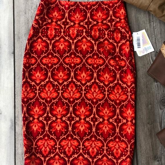 LuLaRoe Dresses & Skirts - LulaRoe Multicolored Stretch Pencil Skirt Size XS